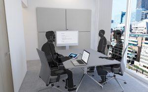 digitaal vergaderen kleine ruimte